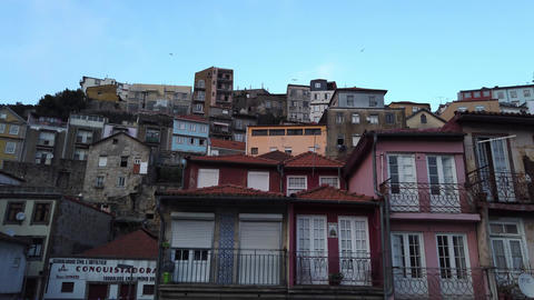 The typical old buildings in the historic district of Porto - CITY OF PORTO Footage
