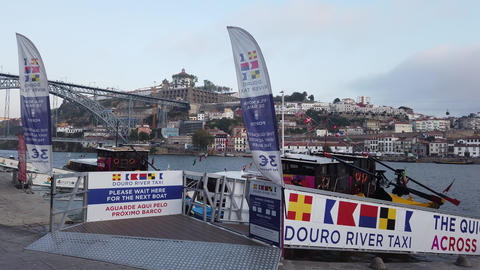 The banks of River Douro in Porto is a popular and crowded place - CITY OF PORTO Footage