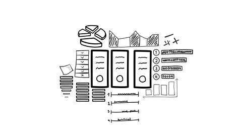 Isolated Hand Drawn Document Folders Icon Animation