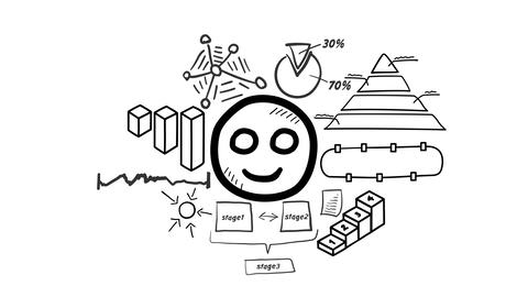 Isolated Hand Drawn Smile Icon Animation