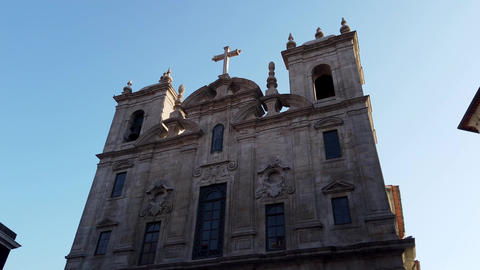 Beautiful church in the historic district of Porto - CITY OF PORTO, PORTUGAL - Footage