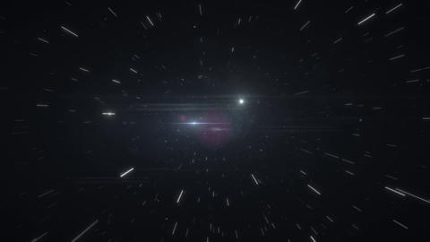 Speed of light in space on black background HD Live Action