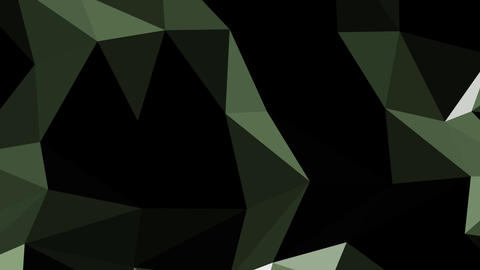 Movement of geometric shapes green HD Footage