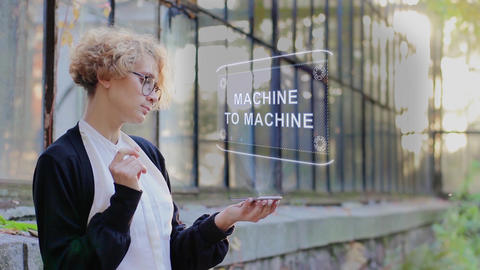Blonde uses hologram Machine to machine Live Action