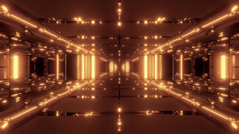 futuristic scifi temple tunnel corridor 3d illustration live wallpaper motion Animation