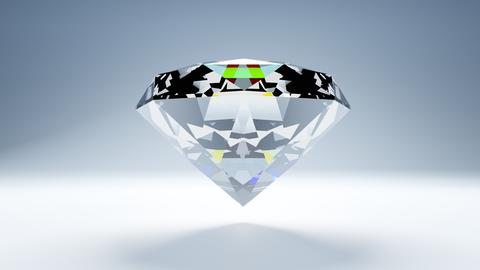 Diamond on white background Photo