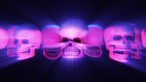 Skulls carousel light show big ray Animation