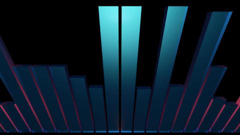3d audio bar Stock Video Footage