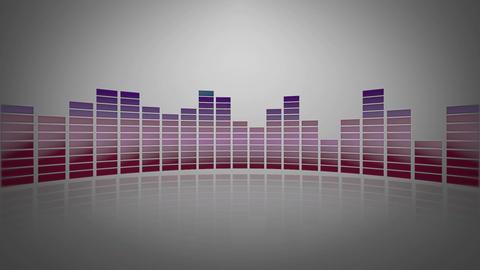 3d glassy audio meter Stock Video Footage