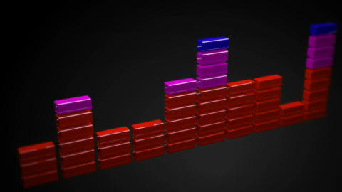 3d sound equalizer glossy Stock Video Footage