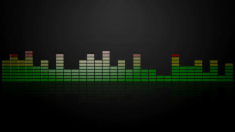 3d audio graphic meter Animation