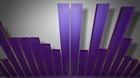 3d audio bar shadow Stock Video Footage