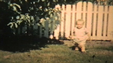 Boy Plays With His Grandma 1963 Vintage 8mm film Stock Video Footage