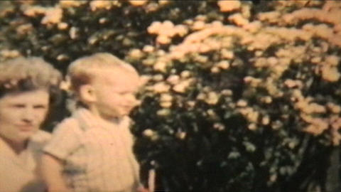 Boy Plays With His Grandma 1963 Vintage 8mm film Footage