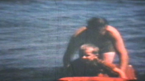 Fun At The Beach 1969 Vintage 8mm film Stock Video Footage