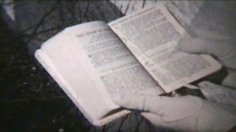 Girl Holding Bible 1960 Vintage 8mm film Footage