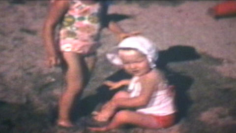Kids At The Beach 1969 Vintage 8mm film Footage