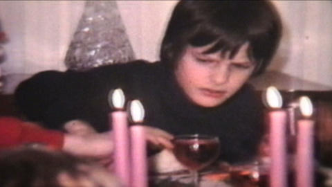 Making Faces 1974 Vintage 8mm film Stock Video Footage