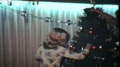 Putting Presents Under Christmas Tree 1978 Vintage 8mm film Footage
