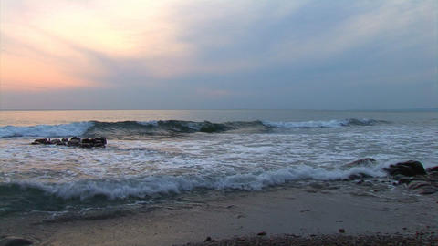 tide at sunset Stock Video Footage