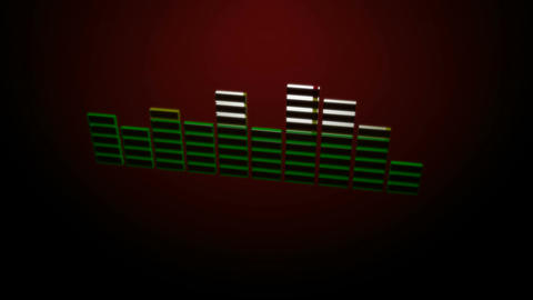 3d red equalizer Stock Video Footage