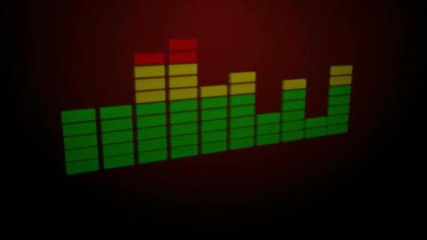 3d red equalizer Animation