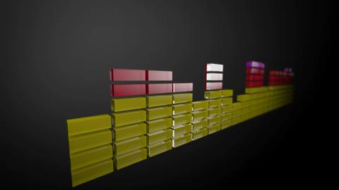 3d audio stripe level Stock Video Footage