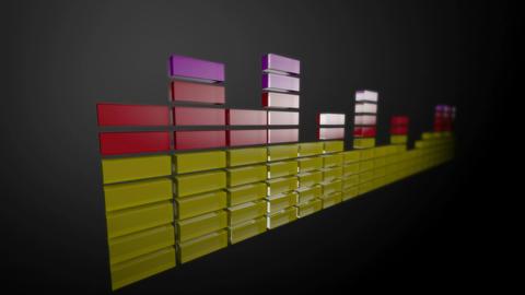 3d audio stripe level Animation