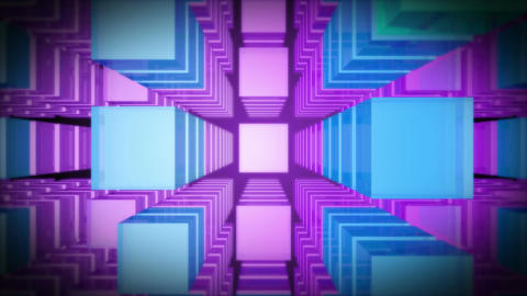 3d top purple level Stock Video Footage