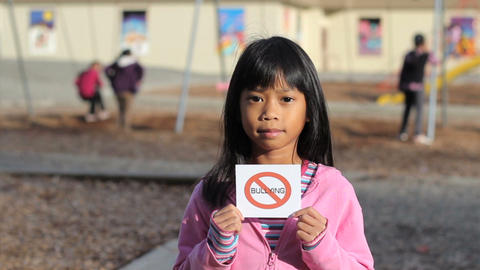 No Bullying Message On School Playground Stock Video Footage