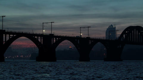 Night Of An Industrial City Stock Video Footage