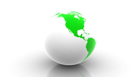 Rotating Green Earth Stock Video Footage