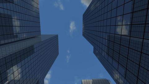Skyscrapers Looping Stock Video Footage