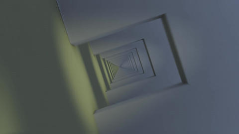 Flying Through Infinite Corridor. Loops Stock Video Footage