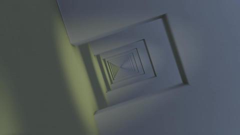 Flying Through Infinite Corridor. Loops Stock Video Footage