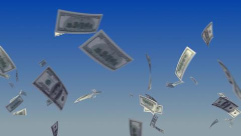 Flying Dollars on Sky Stock Video Footage