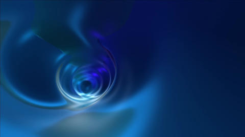 Blue abstract tunnel Stock Video Footage