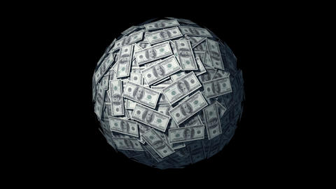Looping Money Ball Stock Video Footage