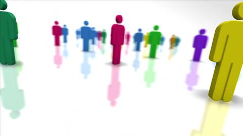 Loooping Colorful Team Members Stock Video Footage