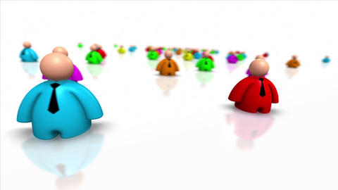 Looping Colorful Business People Animation