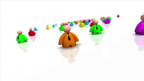 Looping Colorful Business People Stock Video Footage