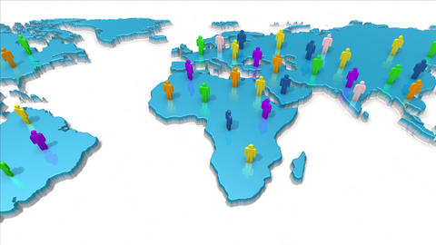 Global network and human resources concept Animation