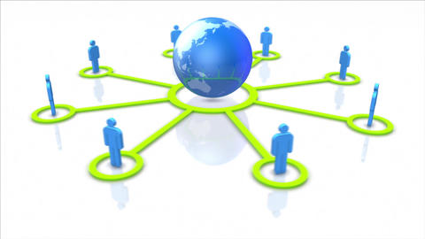 Global social network and communication concept. Looping Stock Video Footage