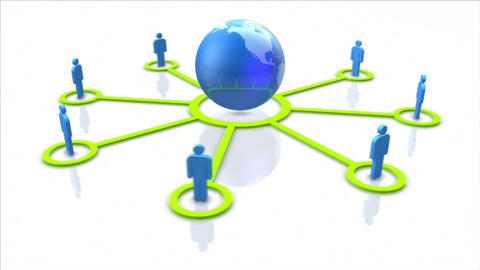 Global social network and communication concept. Looping Animation