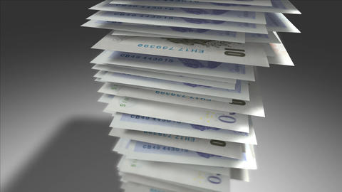 Stack of British Pounds Stock Video Footage