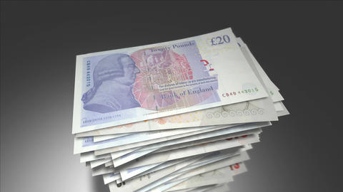 Stack of British Pounds Animation