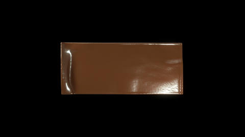 Making chocolate bars: Filling the frame with slow... Stock Video Footage