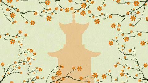 Cherry Blossoming Pagoda 4 Animation