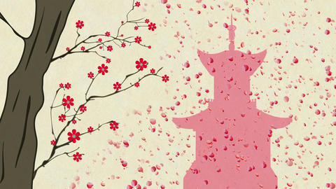 Cherry Blossoming Pagoda 12 Animation