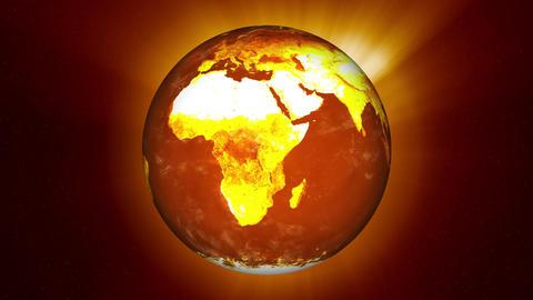 Earth Global Warming Change Animation